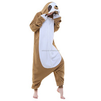 Sloth Unisex Adult Onesie Pajamas Cosplay Halloween Anime Costumes