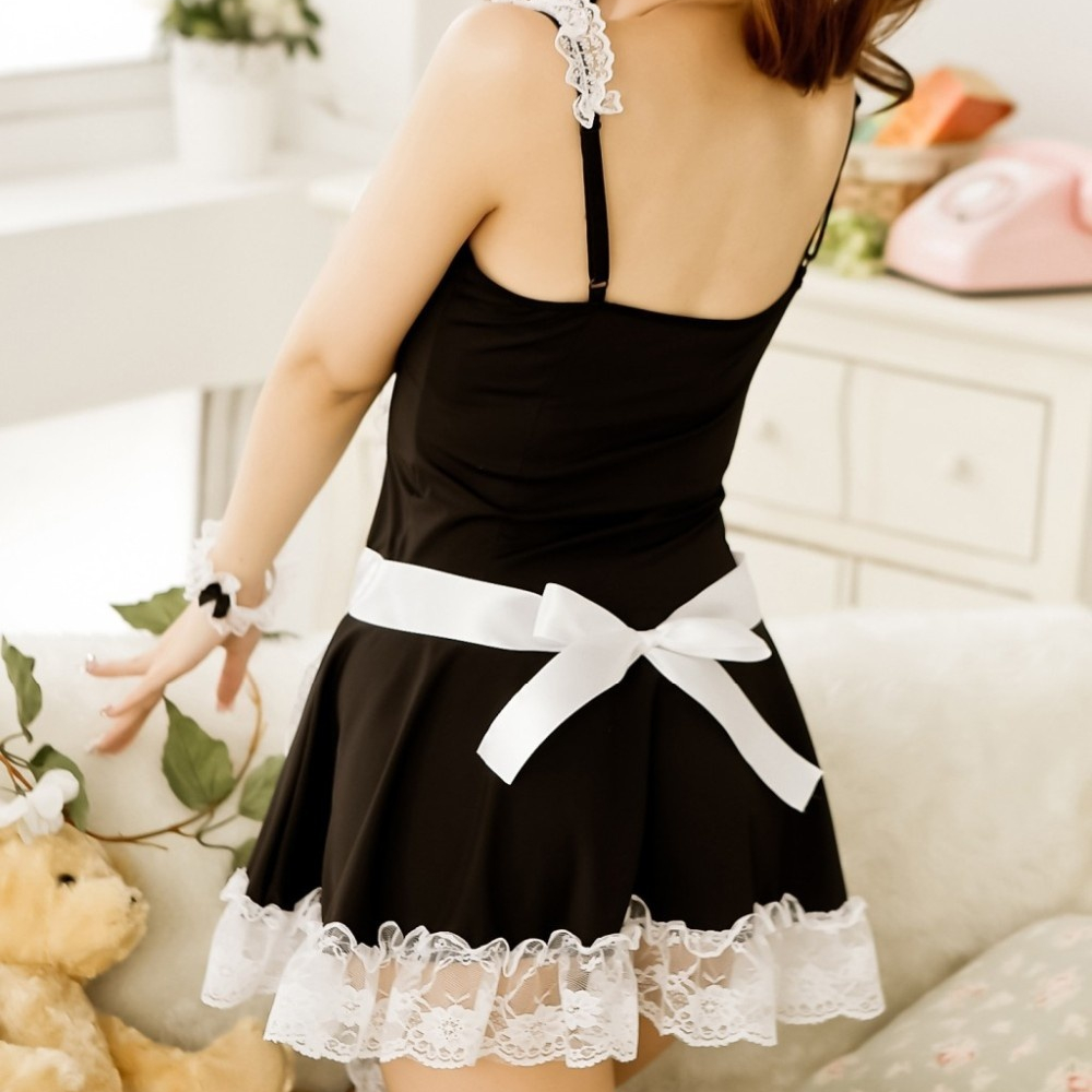 2018 New Fashion Arrival Women's Sexy Spruce Lovely Princess Dress Sexy Maid Uniform Suit Game Uniform Sexy Lingerie