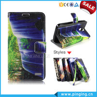 Landscape painting Printing Wallet Style PU Flip Leather Cover For Htc 10