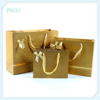 Gold paper bag packaging bag for christmas PSB039