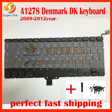new original for macbook pro 13.3'' A1278 DK denmark keyboard danish clavier without backlight 2009-2012year