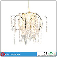 Romantic Atmosphere Beautiful Design Acrylic Beads Wedding Decoration Chandelier Lamp