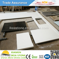 Crystal White Cheap Artificial Counter Top Man Made Stone