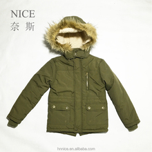Thick Warm boys hooded jacket kids winter coat for children