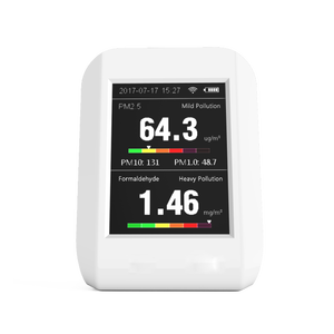2018 New Product Portable Indoor and Outdoor PM 2.5 HCHO Formaldehyde Detector Air Quality Monitor