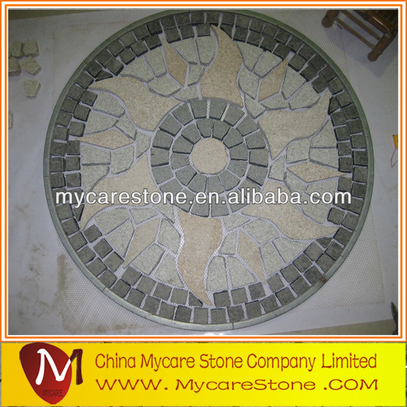 Paver cobble granite sett on mesh