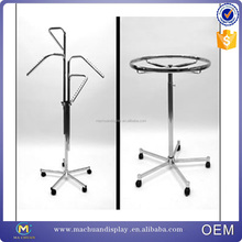 Shop display Metal system 4 ways clothes hanging display stand