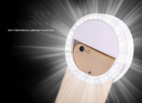 Fashion LED Selfie Ring Light 3-Level Brightness LED Clip On for iphone Blackberry, Samsung Galaxy, All Smart Phone