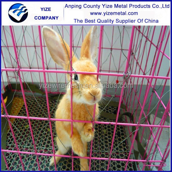 galvanized low carbon steel rabbit cage for rabbits in battery rabbit hutch trays