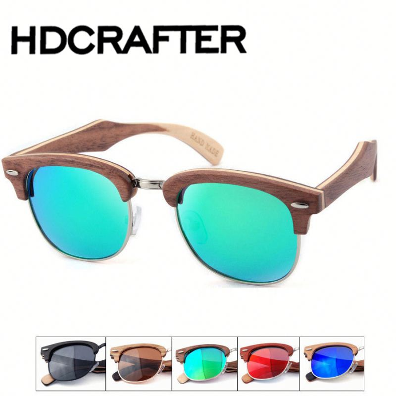 2016 polarized Super retro bamboo wood Recycled wooden sunglasses dropshipping