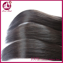Top grade vigin peruvian hair weft natural color silky straight 100% human hair weaving