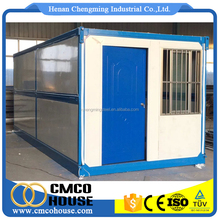 folding modern contain houses/ foldable contianer home/folding 20ft prefab container house