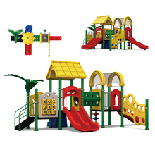 KINPLAY brand Colorful Playground Equipment Plastic Slides Swings Kids Lovely Outdoor Slides