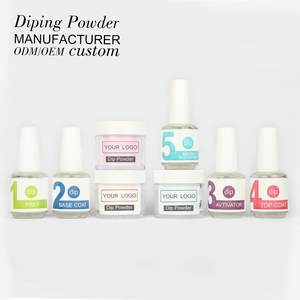 Odorless non tonix no chips acrylic dipping powder nails system full set for french nails