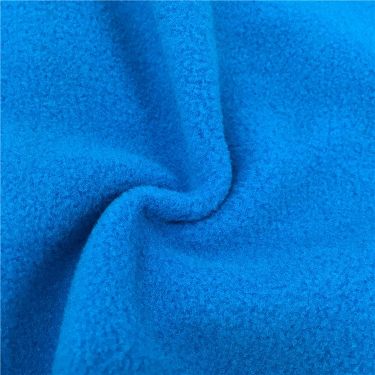 China good price 100% polyester one side brush anti pilling polar fleece fabric
