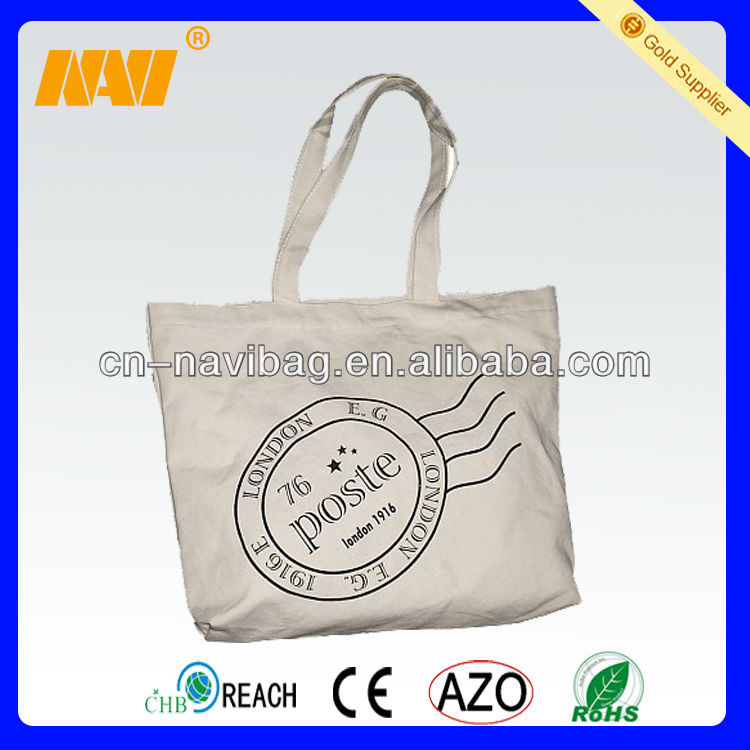 name brand cotton canvas tote bags(NV-C0278)