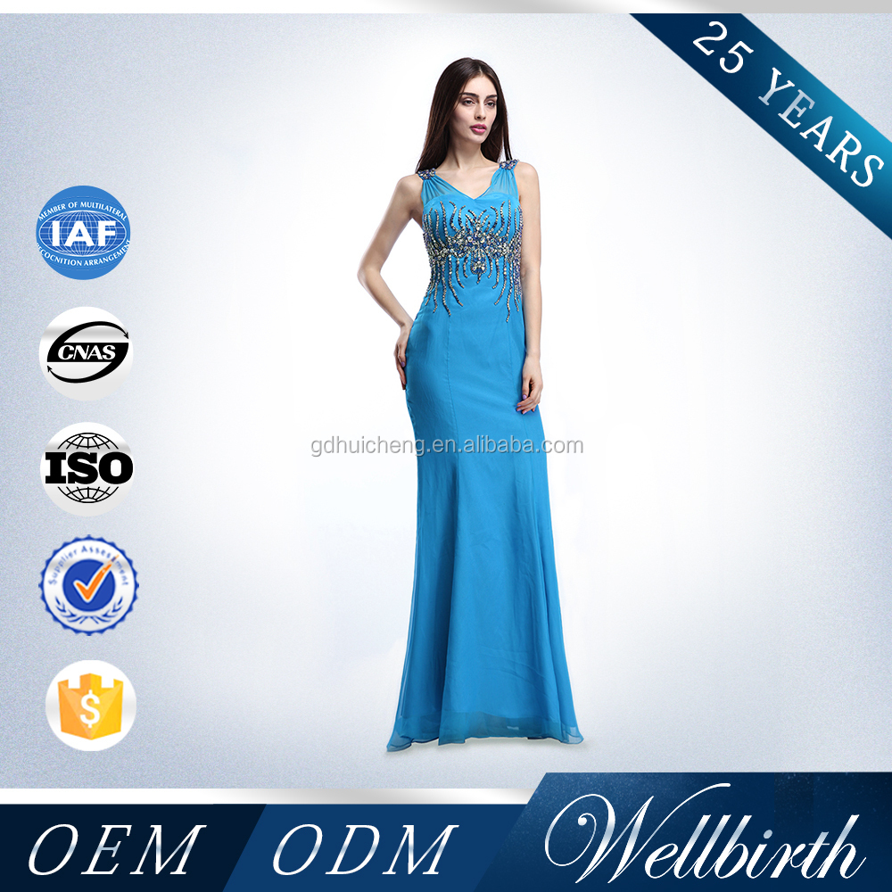 Factory Directly Sell Heavy Beads Big Size Women Dress Evening Dress for Wedding