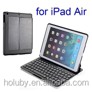 Factory Wholesale Price Super-slim Air Kee F5S Flip PU+Aluminum Hard Wireless Keyboard for iPad Air Bluetooth Keyboard Case