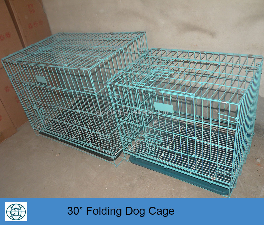 "30"" folding dog cage for animal carrier"