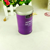 Custom design wholesale tea packaging full color printing cylinder tin box