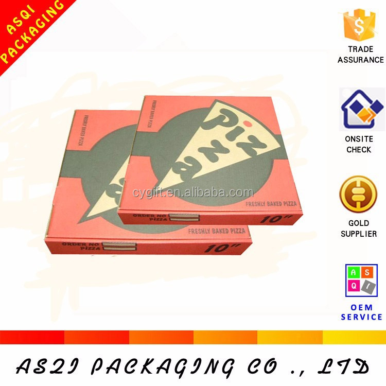easy build round take away paper corrugated pizza box with custom logo