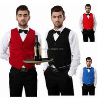 Hotel waiter uniform custom design hotel receptionist bellboy uniform for hotel