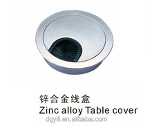 60mm zinc alloy Cable Grommet for desk /high quality table cover with brush