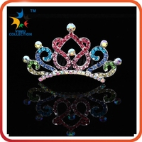 2015 new arrival fashion diamond baby boy crown