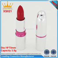 matte waterproof lipstick with silver color lipstick bottle
