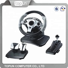 Low Price Custom Logo USB Game Car Steering Wheel for PS2 PS3 PC Computer