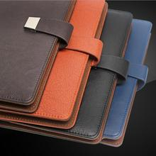 Creative leather bound notebook stationery business a5 notebook office wholesale customization