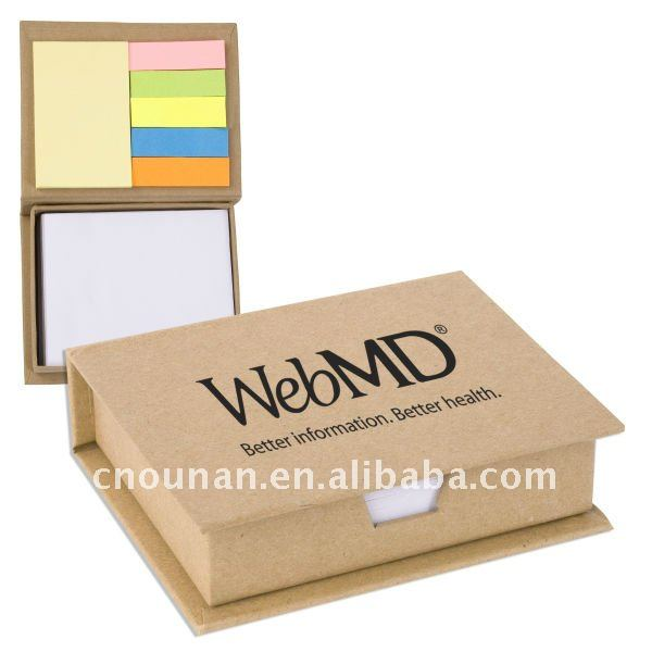 recycled memo pad with box holder as brand promotional gift
