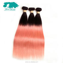 wholesale alibaba <strong>express</strong> new product virgin brazilian rose gold ombre straight hair