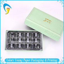Customized Luxury Macaron Box Packing With Plastic Compartment Inlay Tray