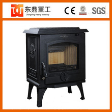 Classical European style indoor freestanding cast iron wood stove/wood fireplace with back boiler