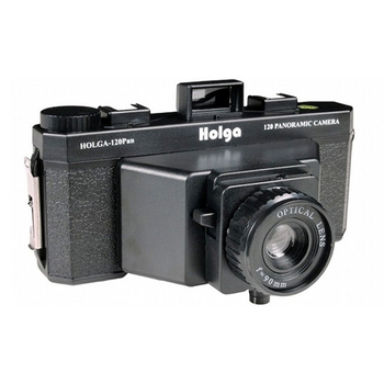 Holga 120 Pan 6x12 Medium Format Panoramic Lomo Film Camera with Flash