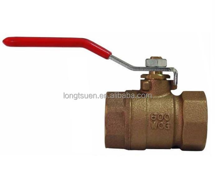 Model ST-601/ ST-600s Taiwan TOHO Brand screwed end lever handle manual blow-out proof stem up to 4 inch bronze 2--pc ball valve