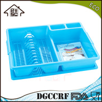 NBRSC Plastic dish drainer with drip tray large cutlery holder sink rack draining tray