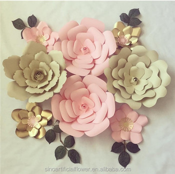 Fashion High Quality Artificial Paper Flower For Wedding Wall