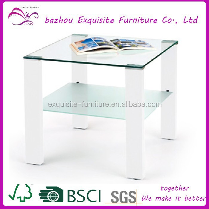 modern white high end BLACK COFFEE TABLE GLASS TOP LIVING ROOM MODERN END FURNITURE STORAGE COCKTAIL