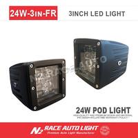 N2 best selling ATV Off Road Lights 24 watt led pod lights 4 row square work light for Honda