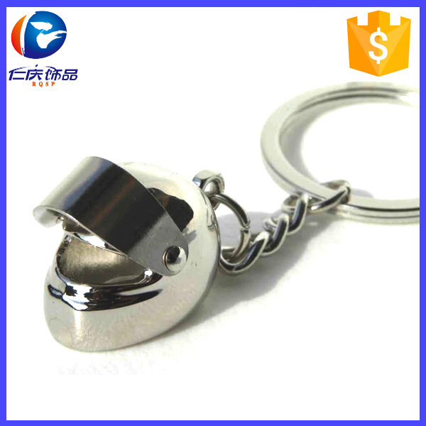 Promotion gifts custom metal motorcycle helmet 3D keychain
