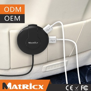 6 Port USB Car Charger mobile phone charger for backseat users with Smart charging ports
