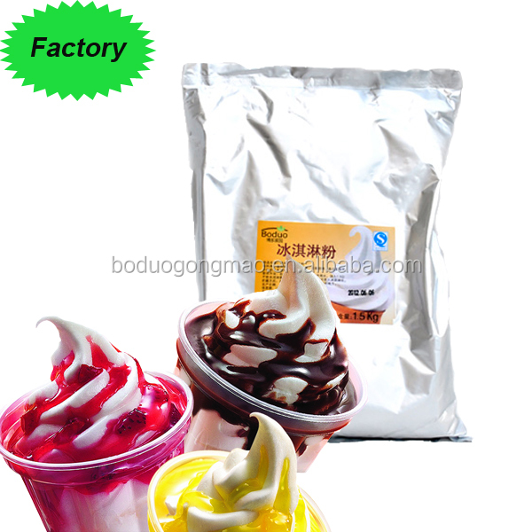 Green food Factory supplier soft ice cream mix powder flavors and ice cream powder