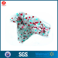 Plastic valentine decorative heart pattern candy bags with side gusset
