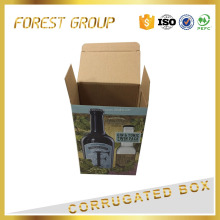 COLOR PRINTED CARDBOARD CORRUGATED CAKE PACKAGING WINE BOX