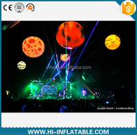 2015 Hot sale inflatable earth planet system led balloon for decoration, Sun, Mars, Saturn solar system nine planets