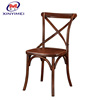 Popular nice wooden dining stacking wedding cross back chair