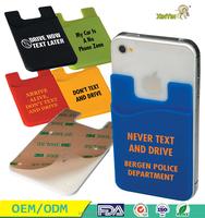 China manufacturer 3m sticker smart wallet mobile card holder
