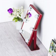 Magnification Makeup Table Standing Make Up Mirror with LED Light